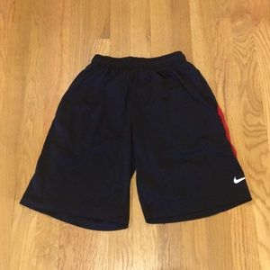Men's Nike Black and Red Performance Shorts
